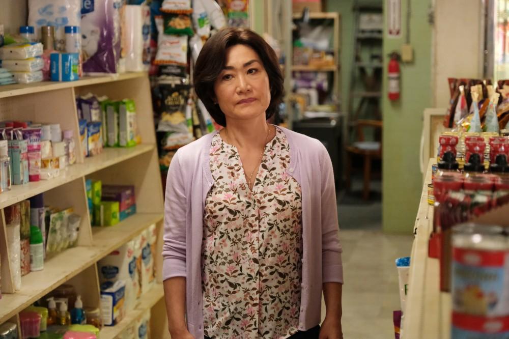 "A still of Jean Yoon portraying ""Umma"" on Kim's Convenience"