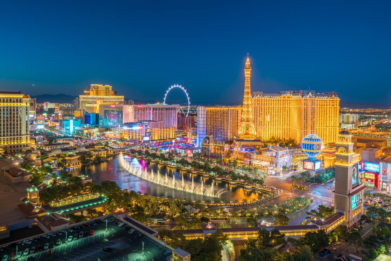 The Strip of Las Vegas, Nevada at night