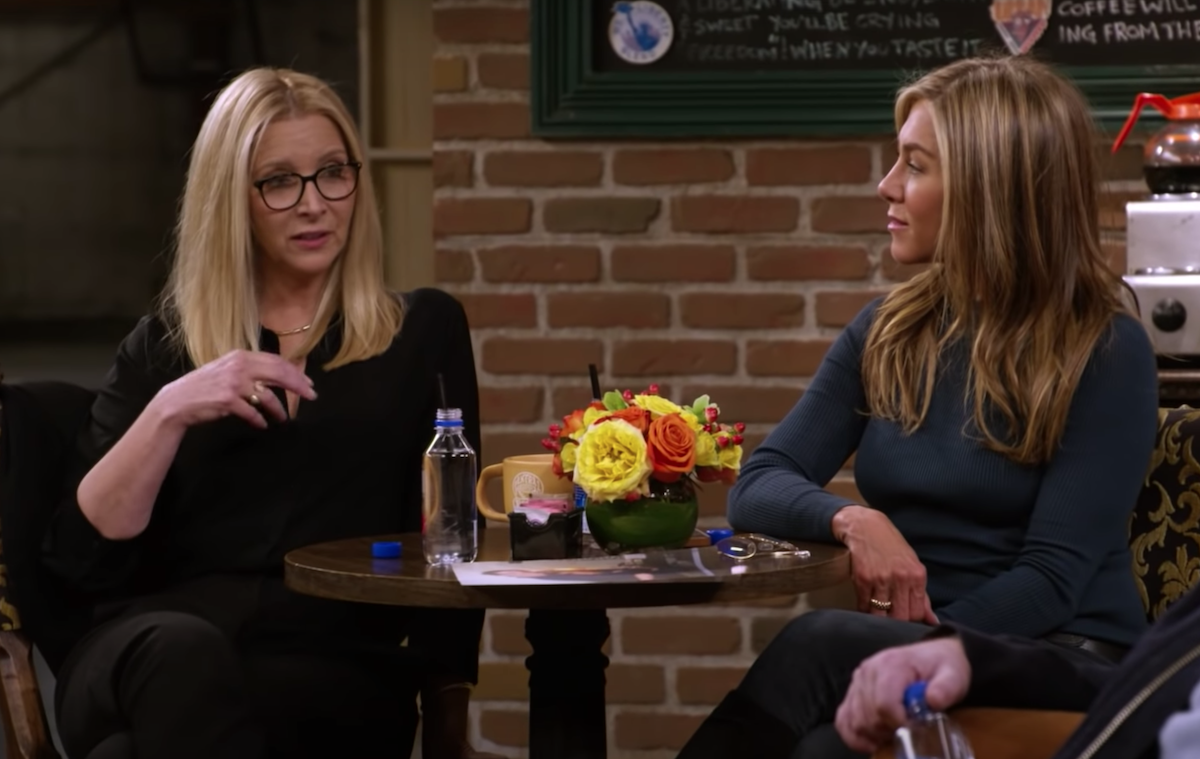"Lisa Kudrow and Jennifer Aniston on ""Friends: The Reunion"""