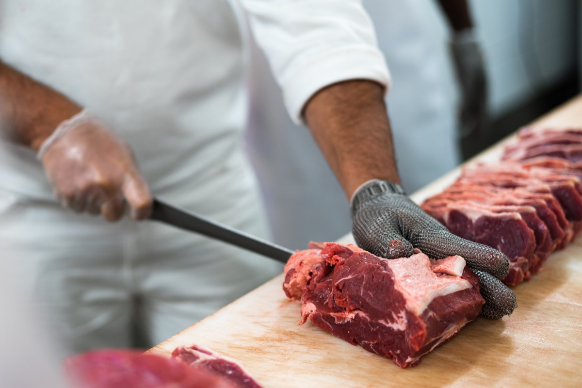 Butcher meat cutter meat