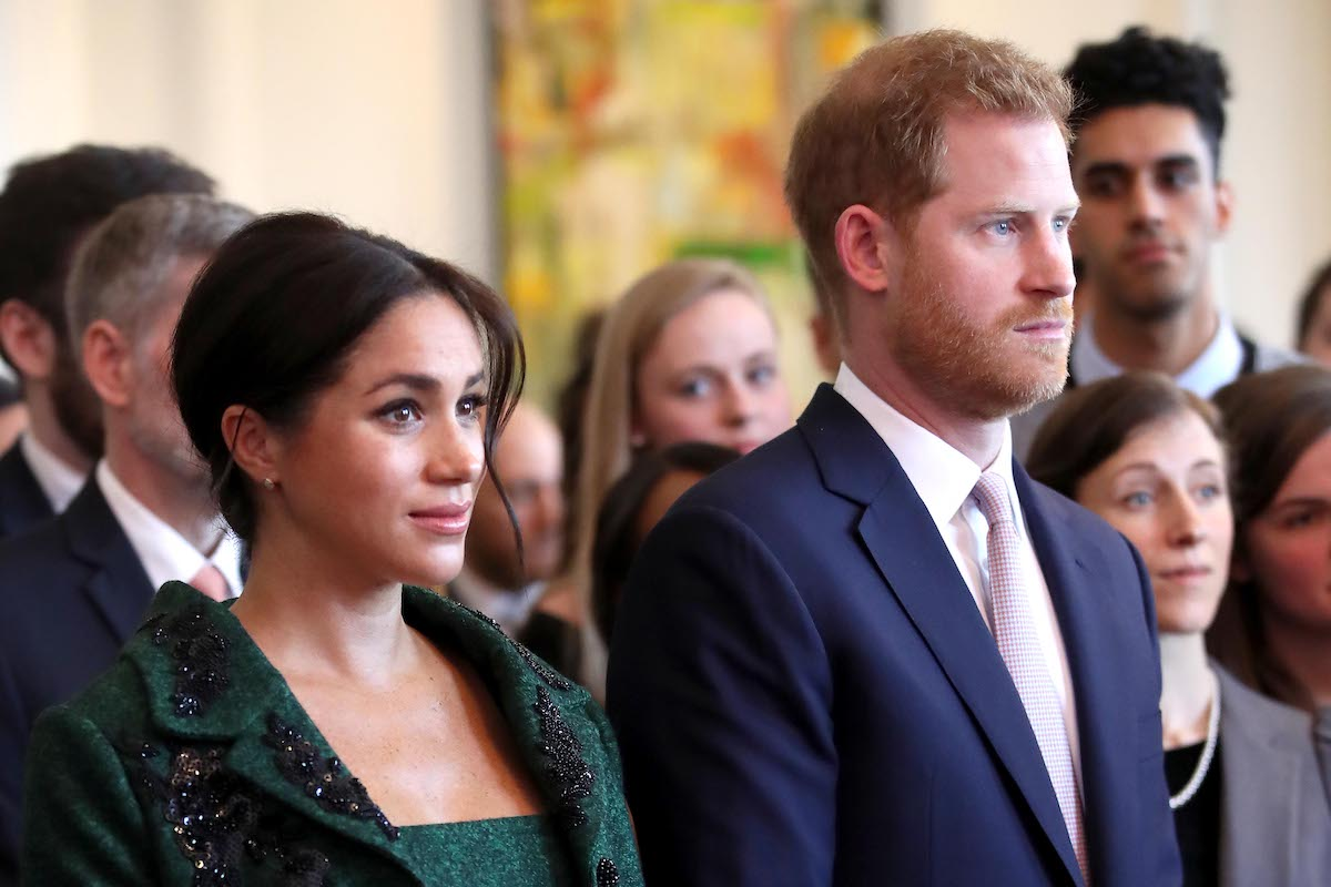 Meghan, Duchess of Sussex and Prince Harry, Duke of Sussex watch a musical performance as they attend a Commonwealth Day Youth Event at Canada House on March 11, 2019 in London, England.