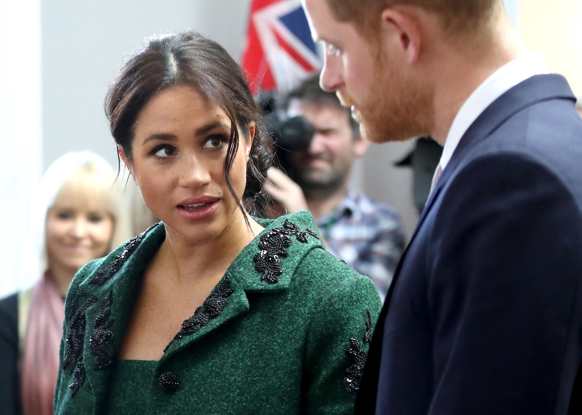 Meghan, Duchess of Sussex (L) and Britain's Prince Harry, Duke of Sussex, attend an event at Canada House, the offices of the High Commission of Canada in the United Kingdom, to mark Commonwealth Day, in central London, on March 11, 2019.