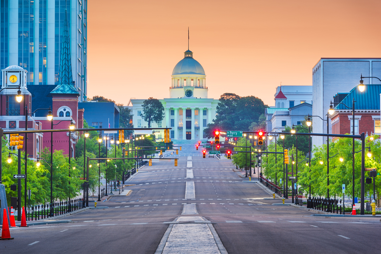 The Alabama State Capital in Montgomery