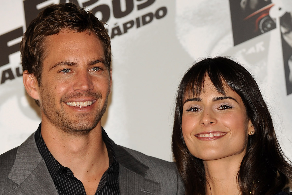 Actors Paul Walker and Jordana Brewster attend Fast and Furious photocall at the Santo Mauro Hotel on March 25, 2009 in Madrid, Spain.