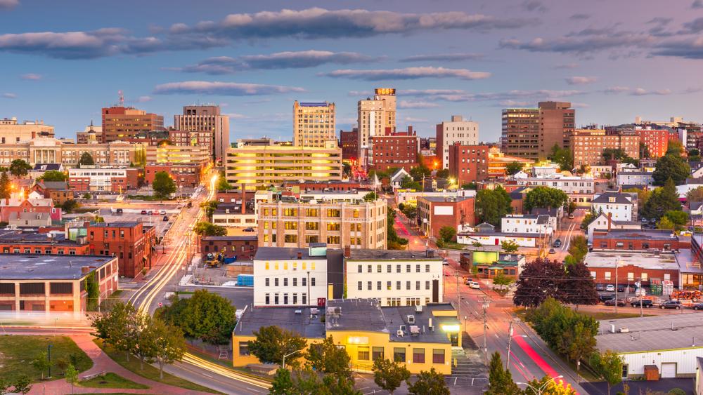 The skyline of Portland, Maine