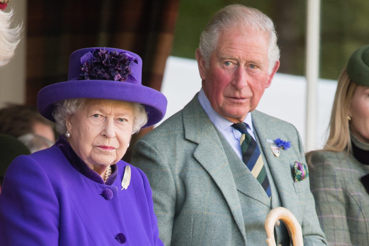 Queen Elizabeth II and Prince Charles, Prince of Wales attend the 2019 Braemar Highland Games on September 07, 2019 in Braemar, Scotland.