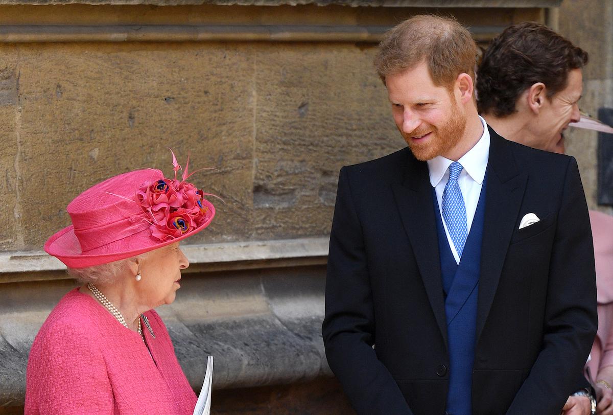 Queen Elizabeth II and Prince Harry, Duke of Sussex