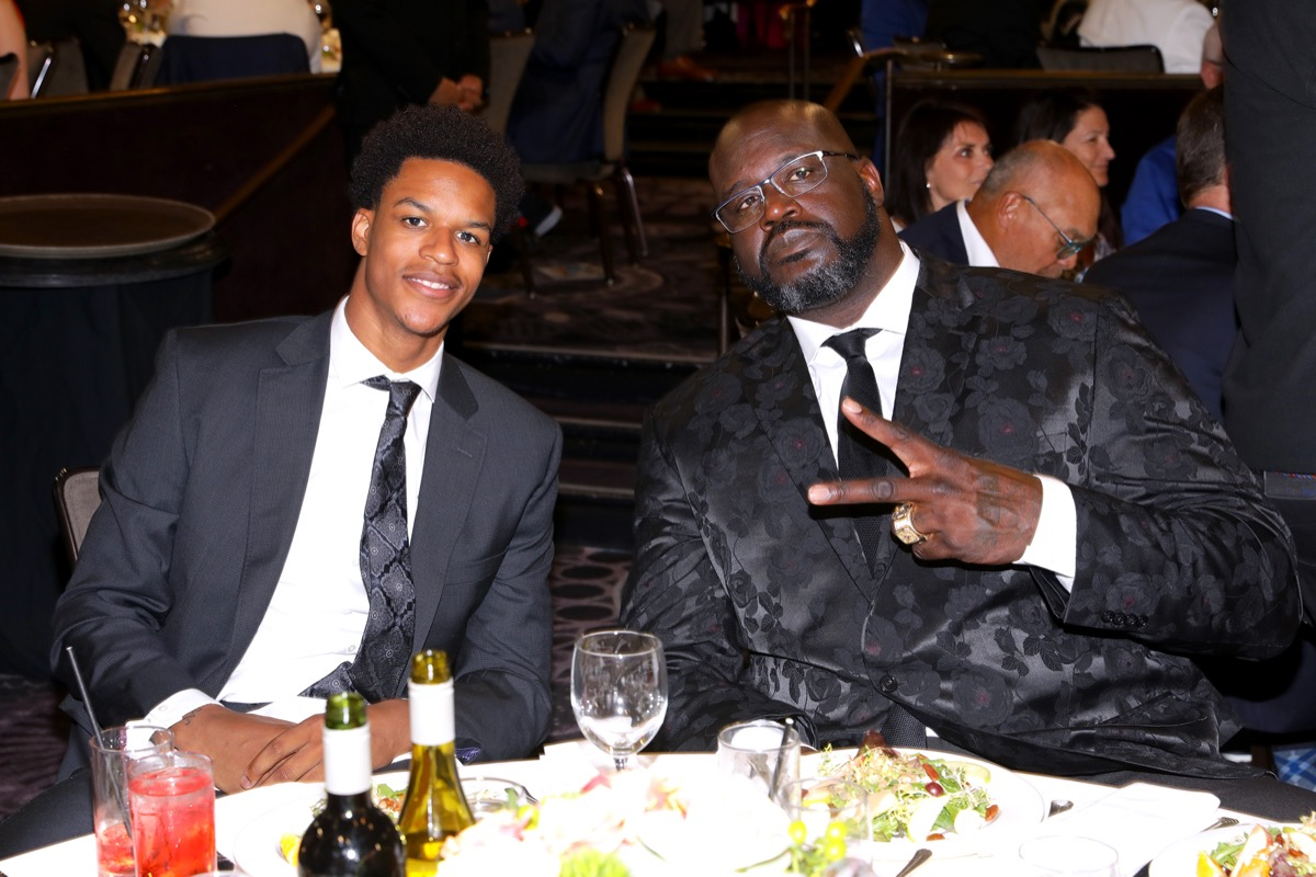Shaquille O'Neal and Shareef O'Neal 2019