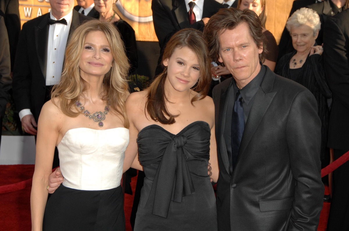 Sosie Bacon, Kevin Bacon, and Kyra Sedgwick