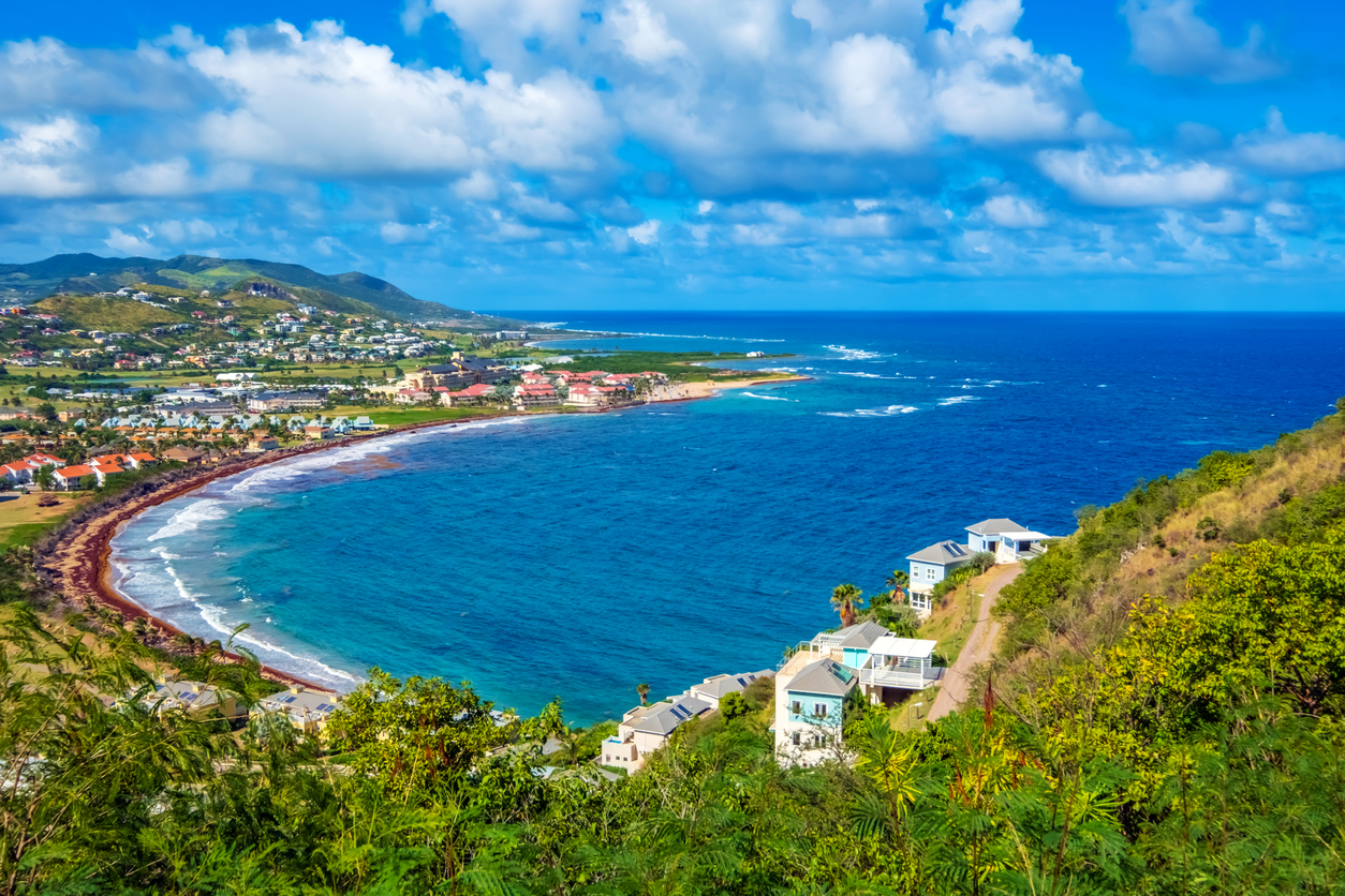 A view of the Caribbean island of St. Kitts