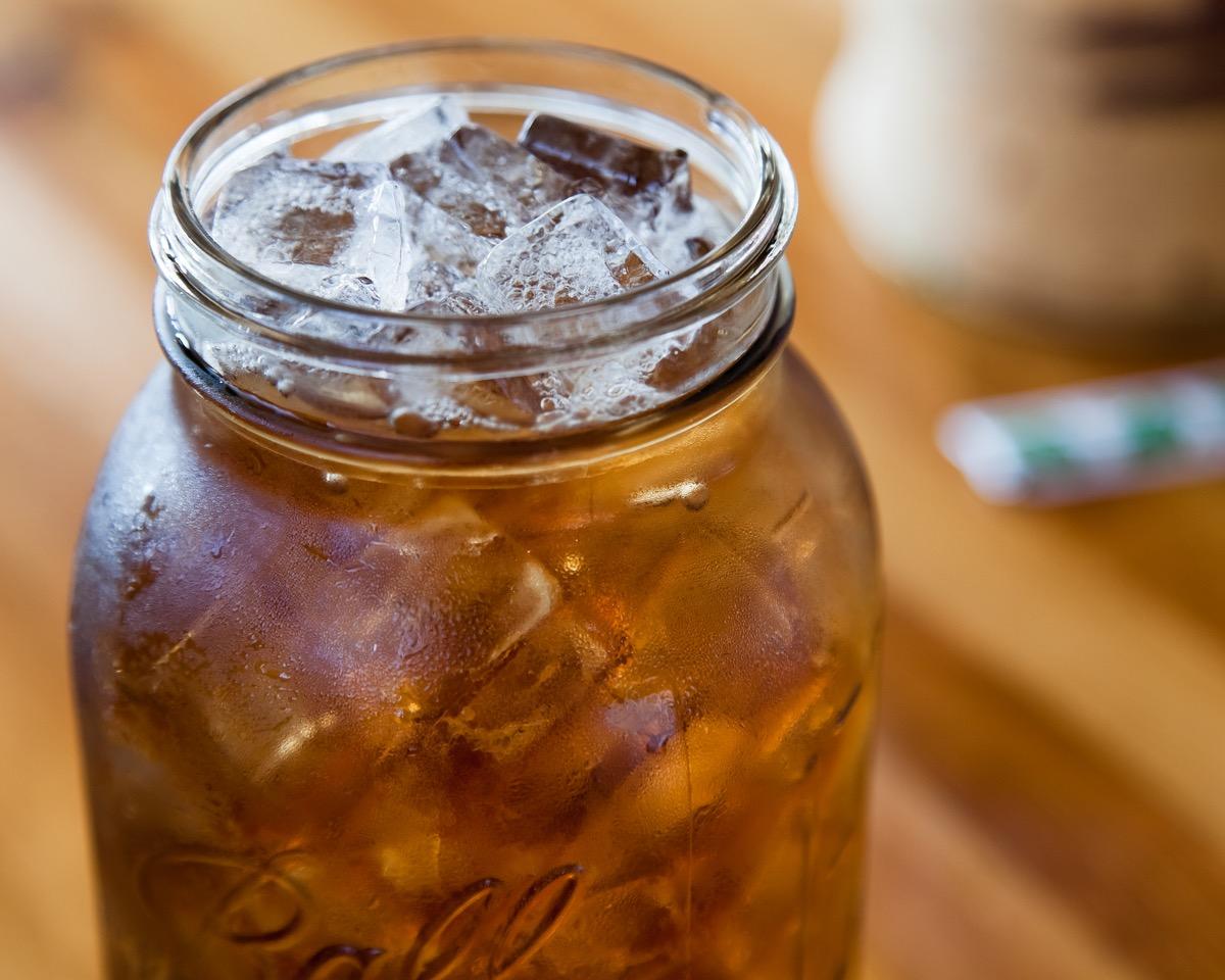 Iced Tea in Mason Jar