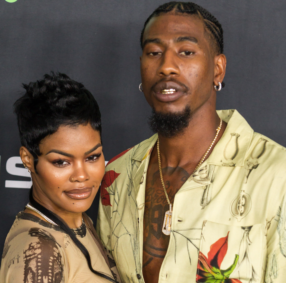 Teyana Taylor and Iman Shumpert attending the Green Carpet of the 2019 BET Hip-Hop Awards on October 5th 2019 at the Cobb Energy Performing Arts Centre, in Atlanta Georgia