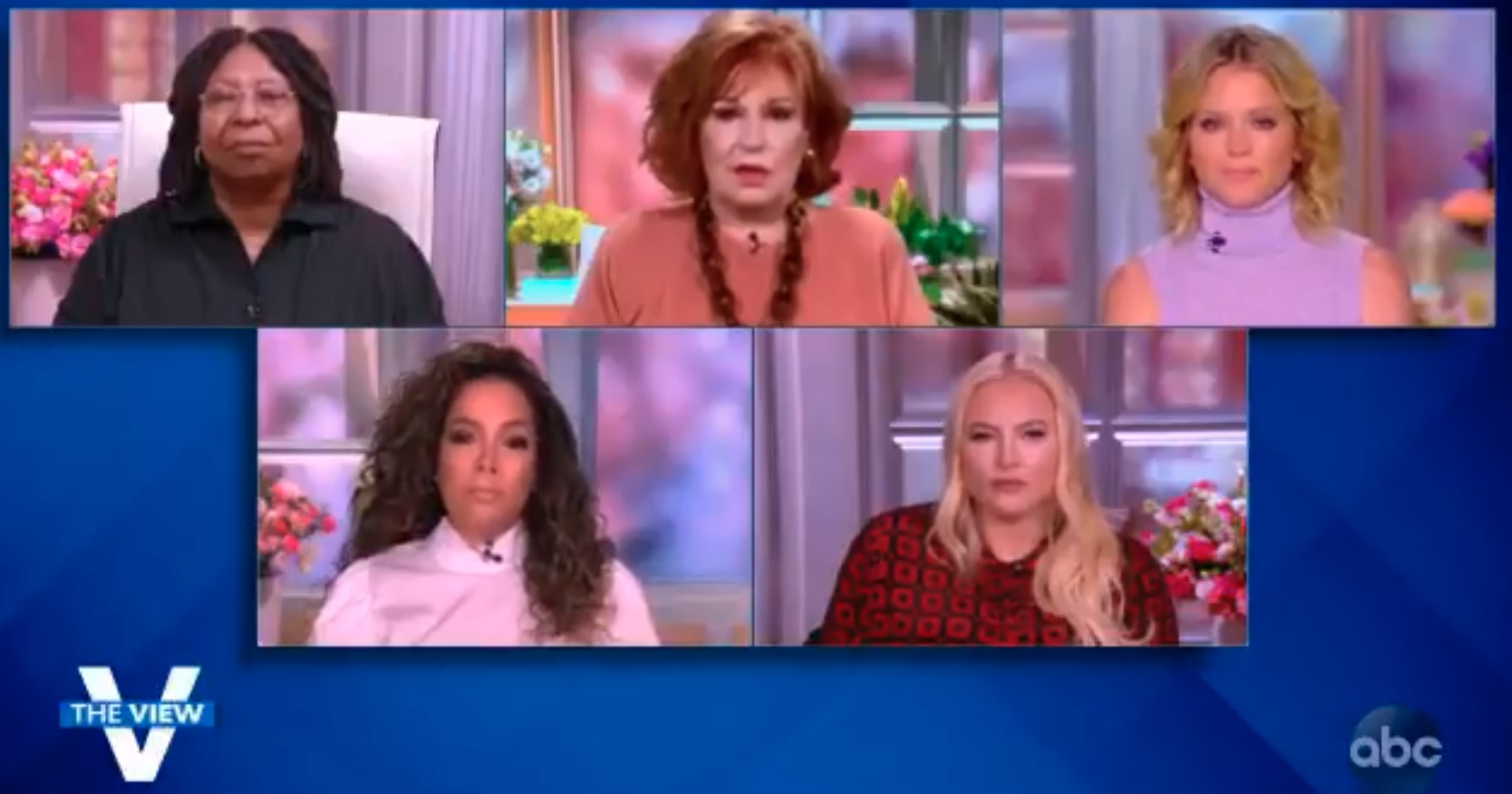 The hosts of the View in split screens