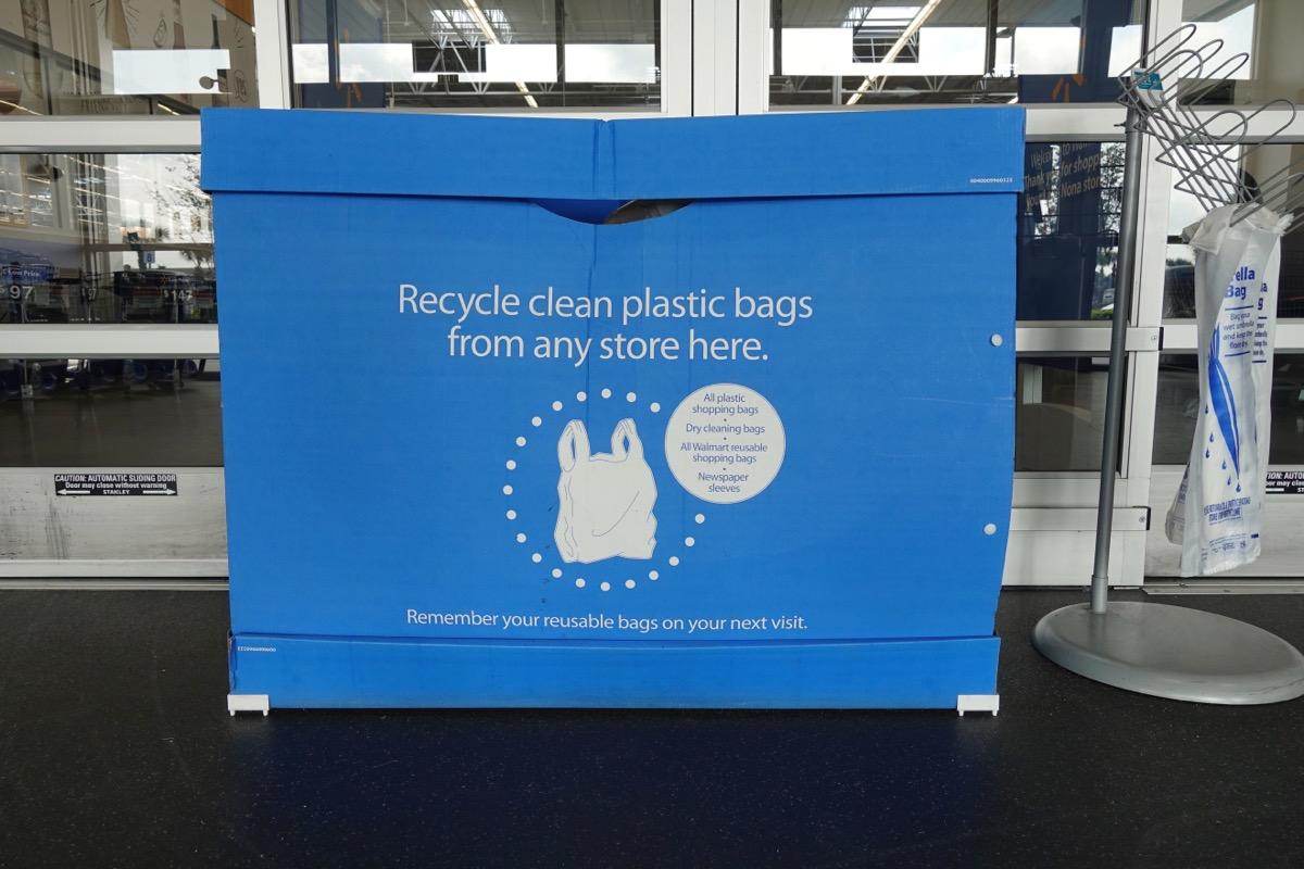 walmart bag recycling bin
