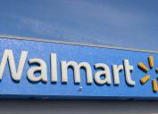 A Walmart store sign