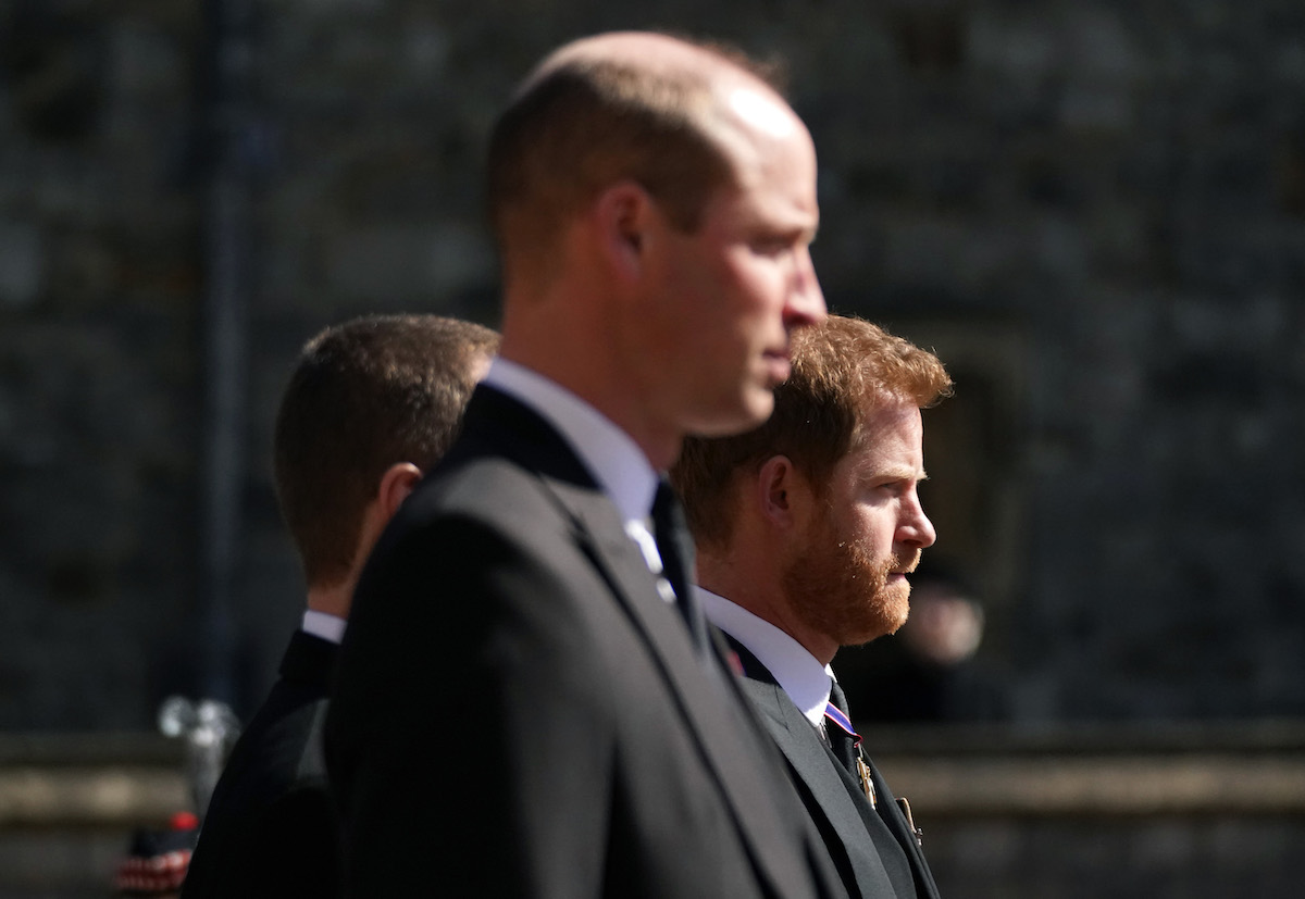 The Duke of Cambridge and Prince Harry in April 2021