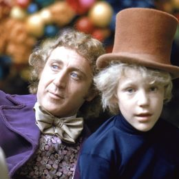"""Gene Wilder and Peter Ostrum in """"Willy Wonka and the Chocolate Factory"""""""