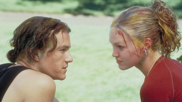 """Heath Ledger and Julia Stiles in """"10 Things I Hate About You"""""""