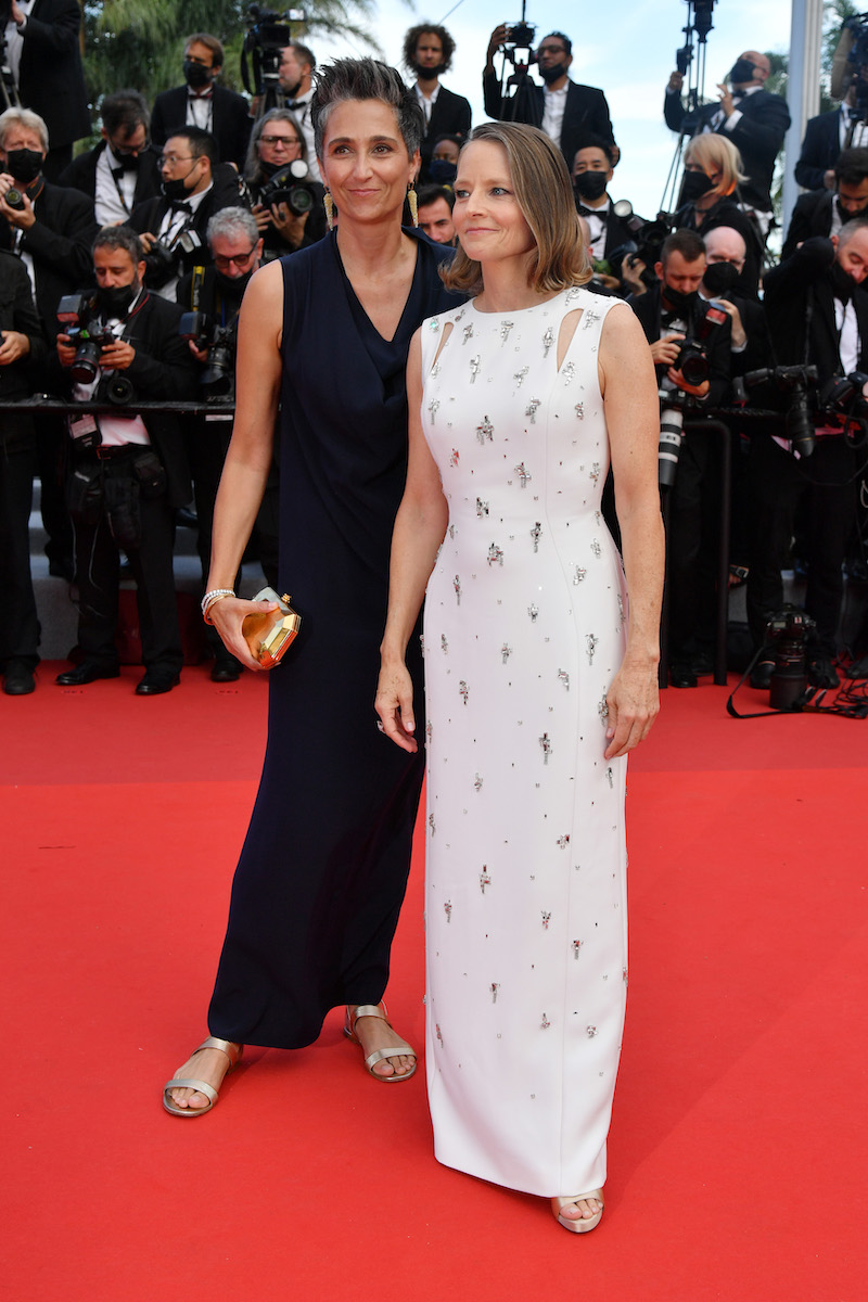 Alexandra Hedison and Jodie Foster at the Cannes Film Festival in July 2021