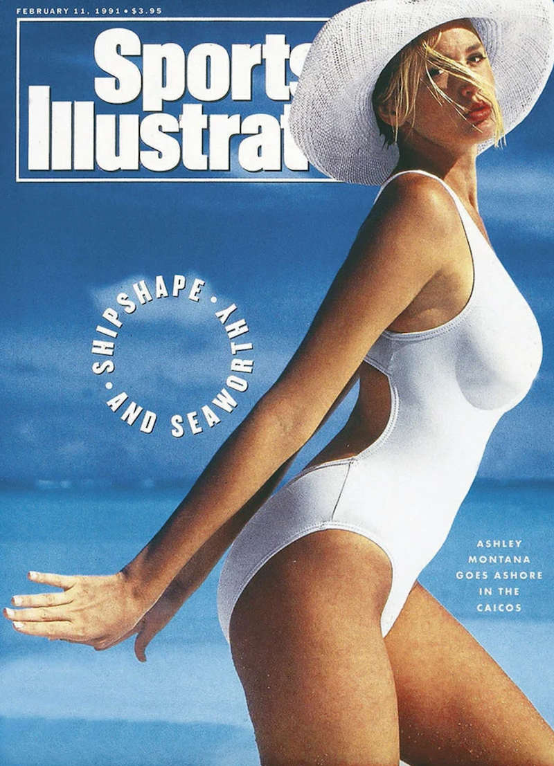 """Ashley Richardson on the cover of """"Sports Illustrated' in 1991"""