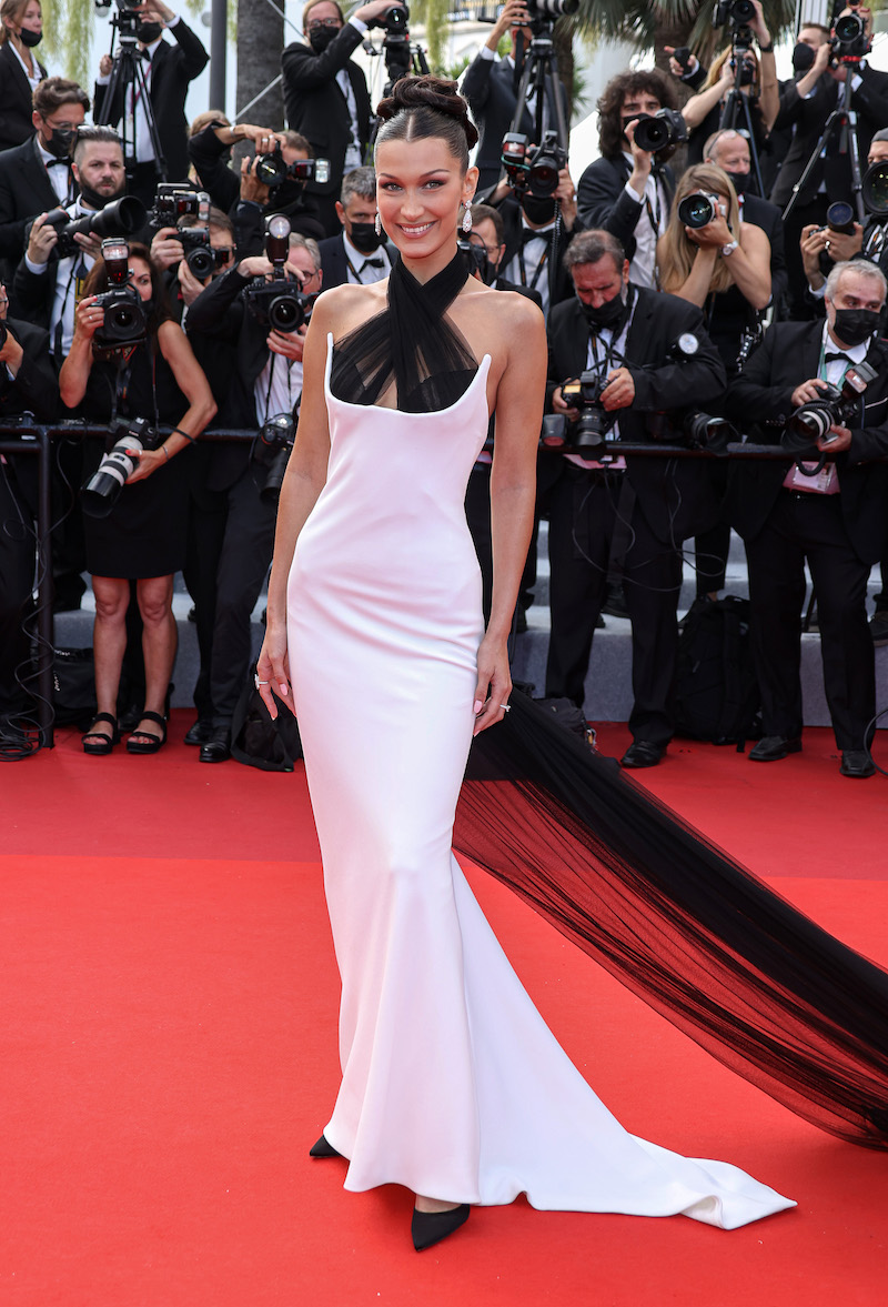 """Bella Hadid at the Cannes premiere of """"Anette"""" on July 6, 2021"""