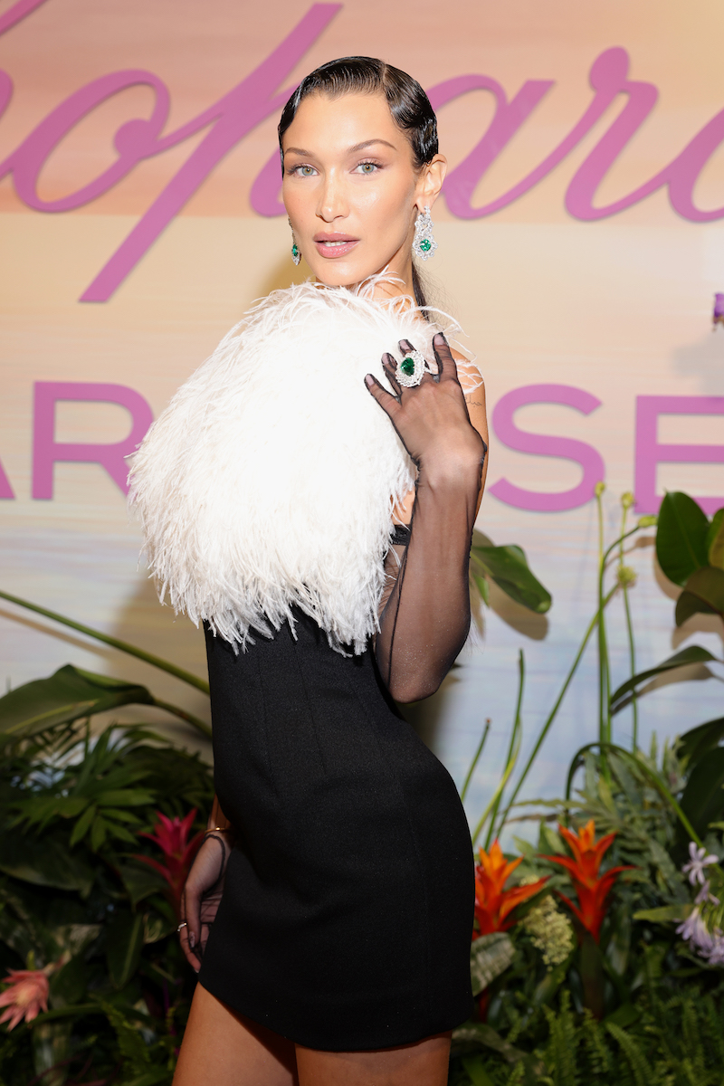 Bella Hadid at a dinner hosted by Chopard in Cannes, France on July 7, 2021