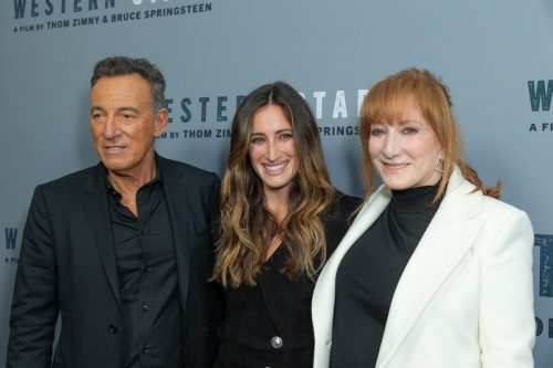 """Bruce Springsteen, Jessica Springsteen, and Patti Scialfa at a screening of """"Western Stars"""" in 2019"""