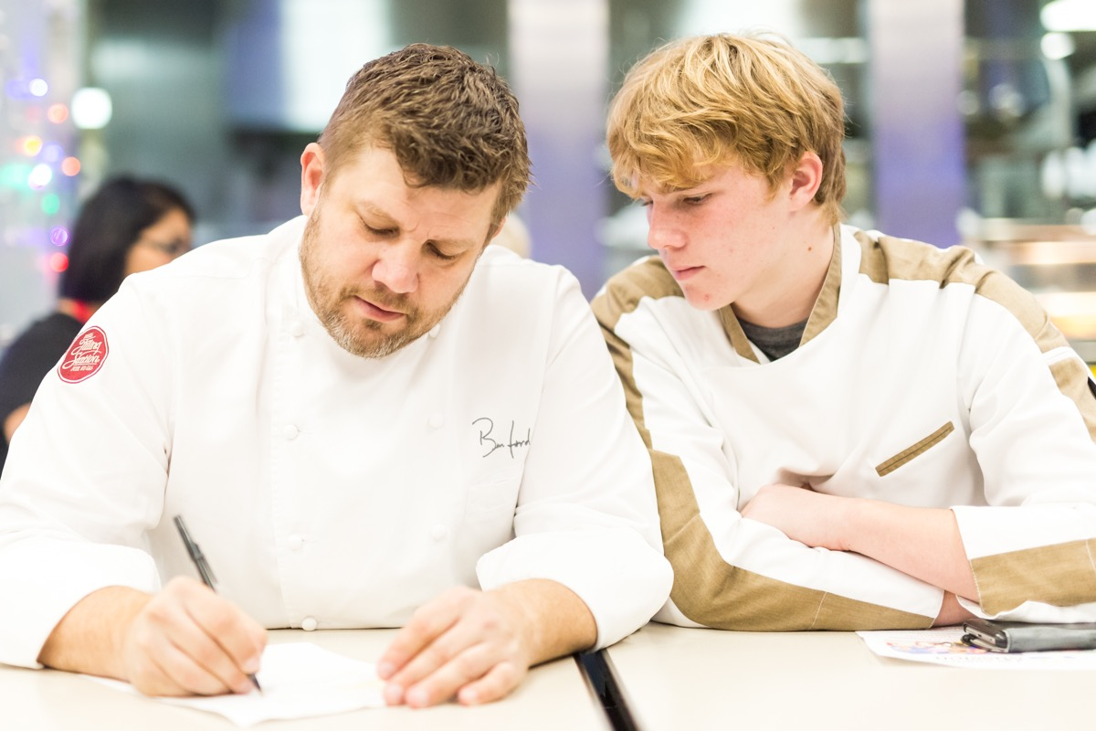 Chef Ben Ford and son