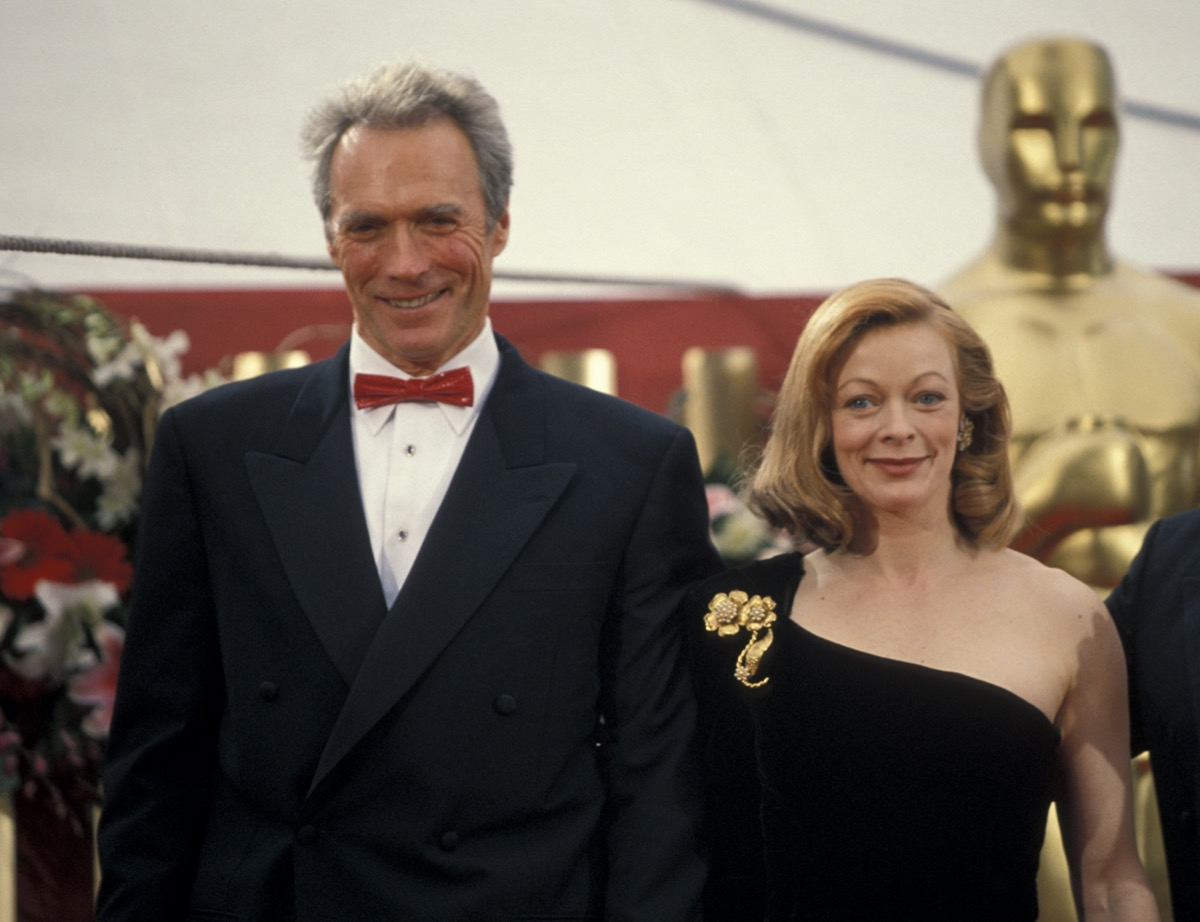 Clint Eastwood and Frances Fisher in 1993