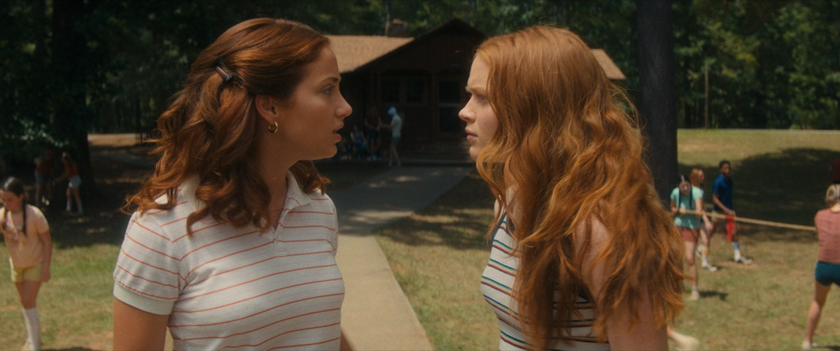 Emily Rudd and Sadie Sink in Fear Street Part 2: 1978
