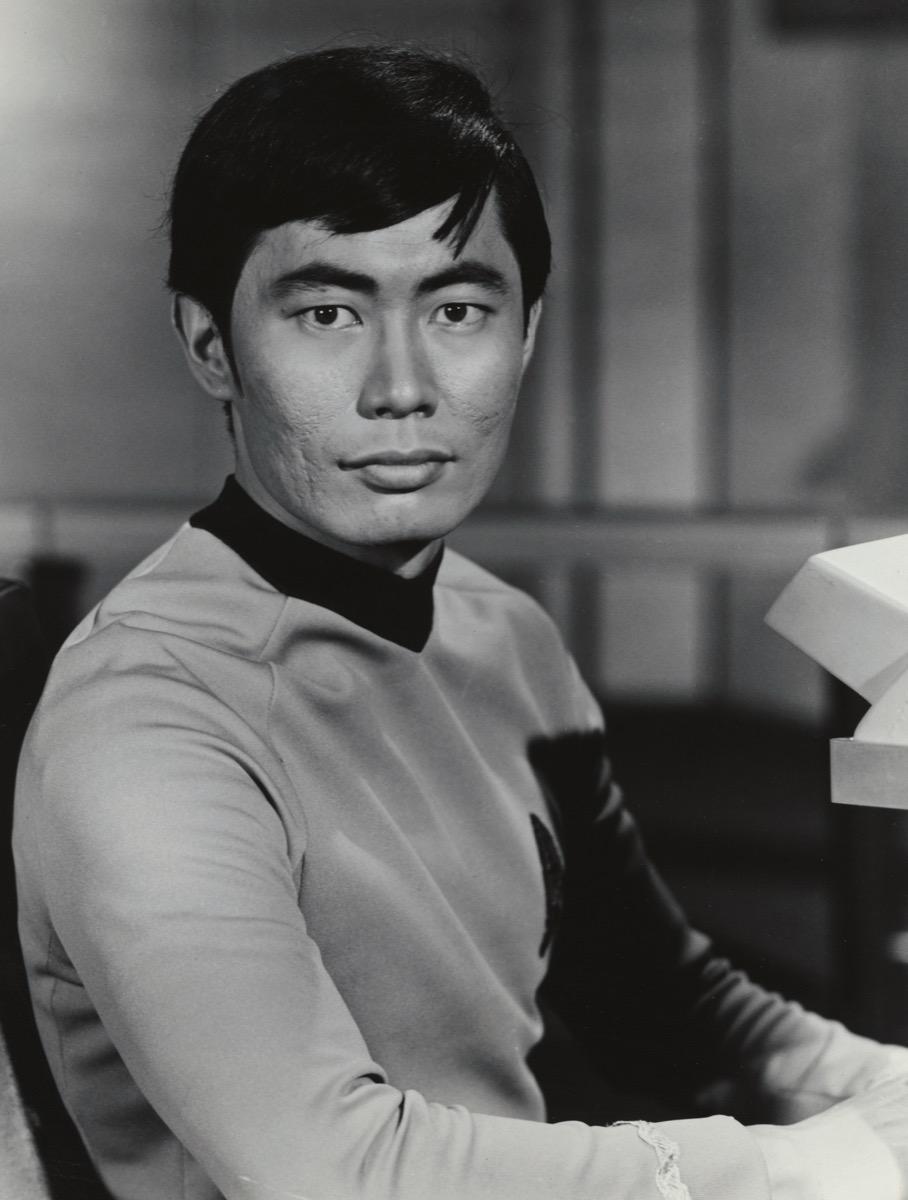 George Takei in Star Trek in 1966
