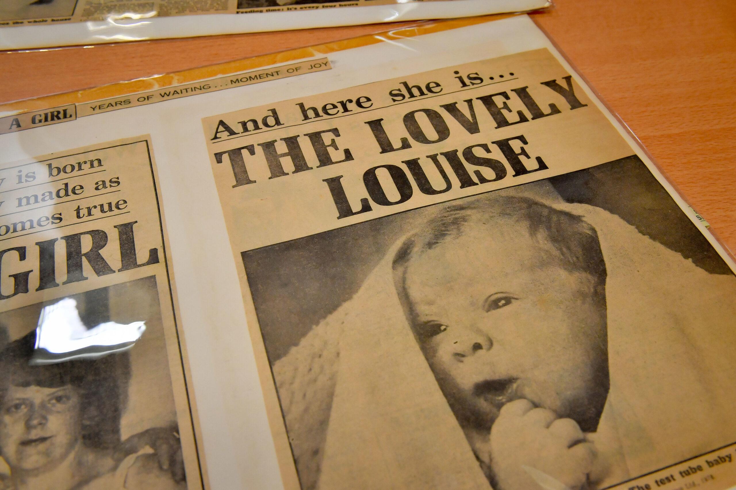 Louise Joy Brown IVF baby newspaper