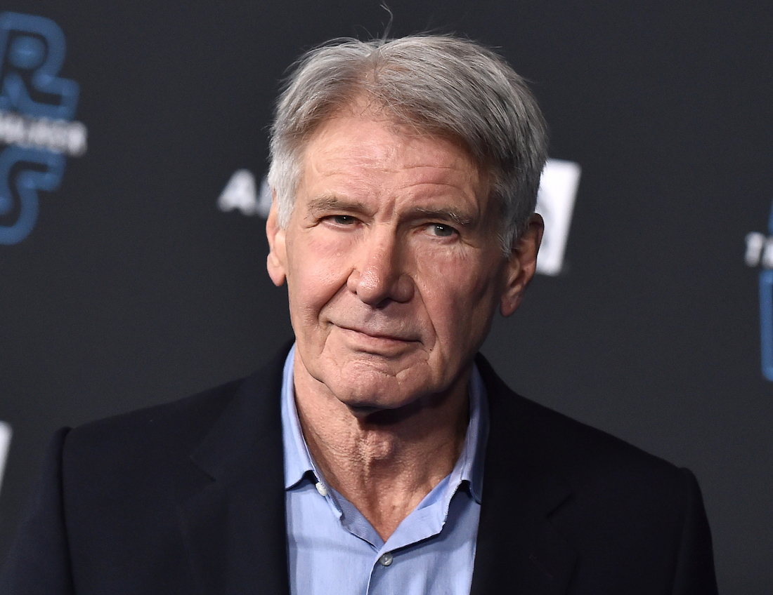 """Harrison Ford at the premiere of """"Star Wars: The Rise of Skywalker"""" in 2019"""