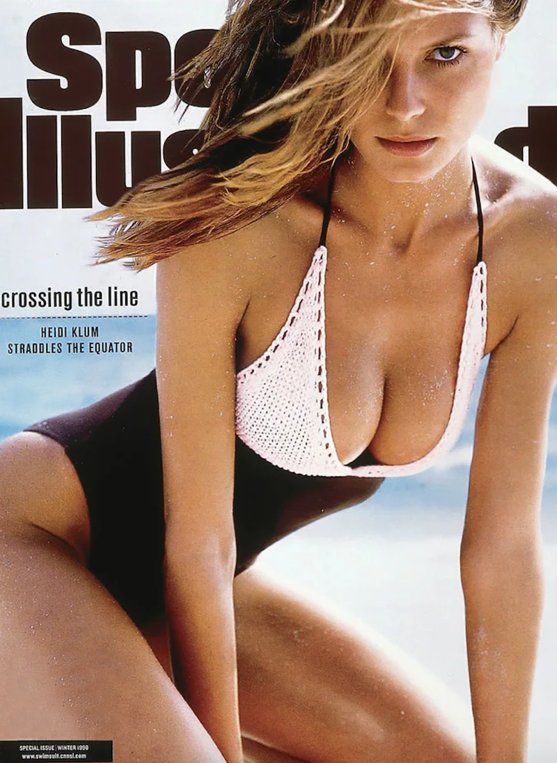 """Heidi Klum on the cover of """"Sports Illustrated"""" in 1998"""