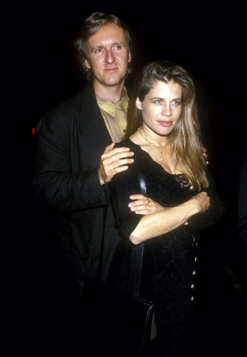 James Cameron and Linda Hamilton in 1992