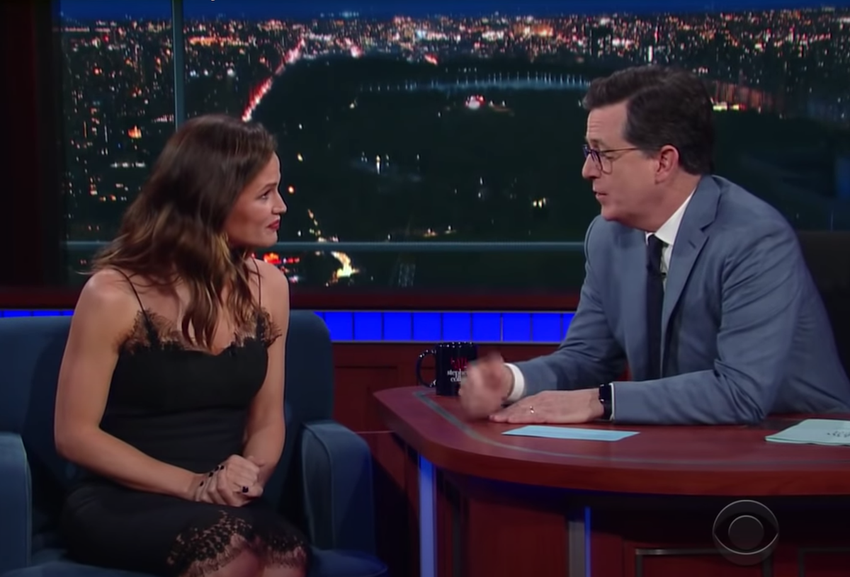 "Jennifer Garner on ""The Late Show"" in 2017"