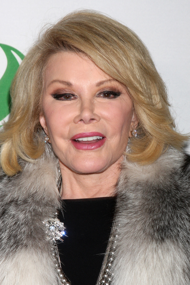 Joan Rivers at the Global Green USA Pre-Oscar Event in 2014