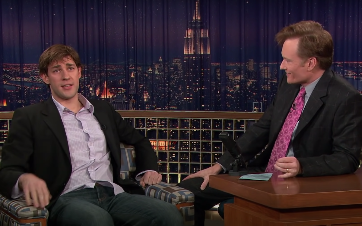 """John Krasinski on """"Late Night with Conan O'Brien"""" in 2005"""