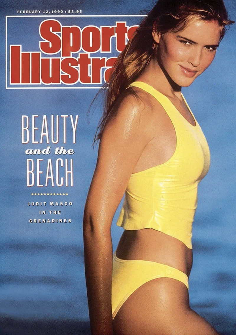 """Judit Mascó on the cover of """"Sports Illustrated"""" in 1990"""