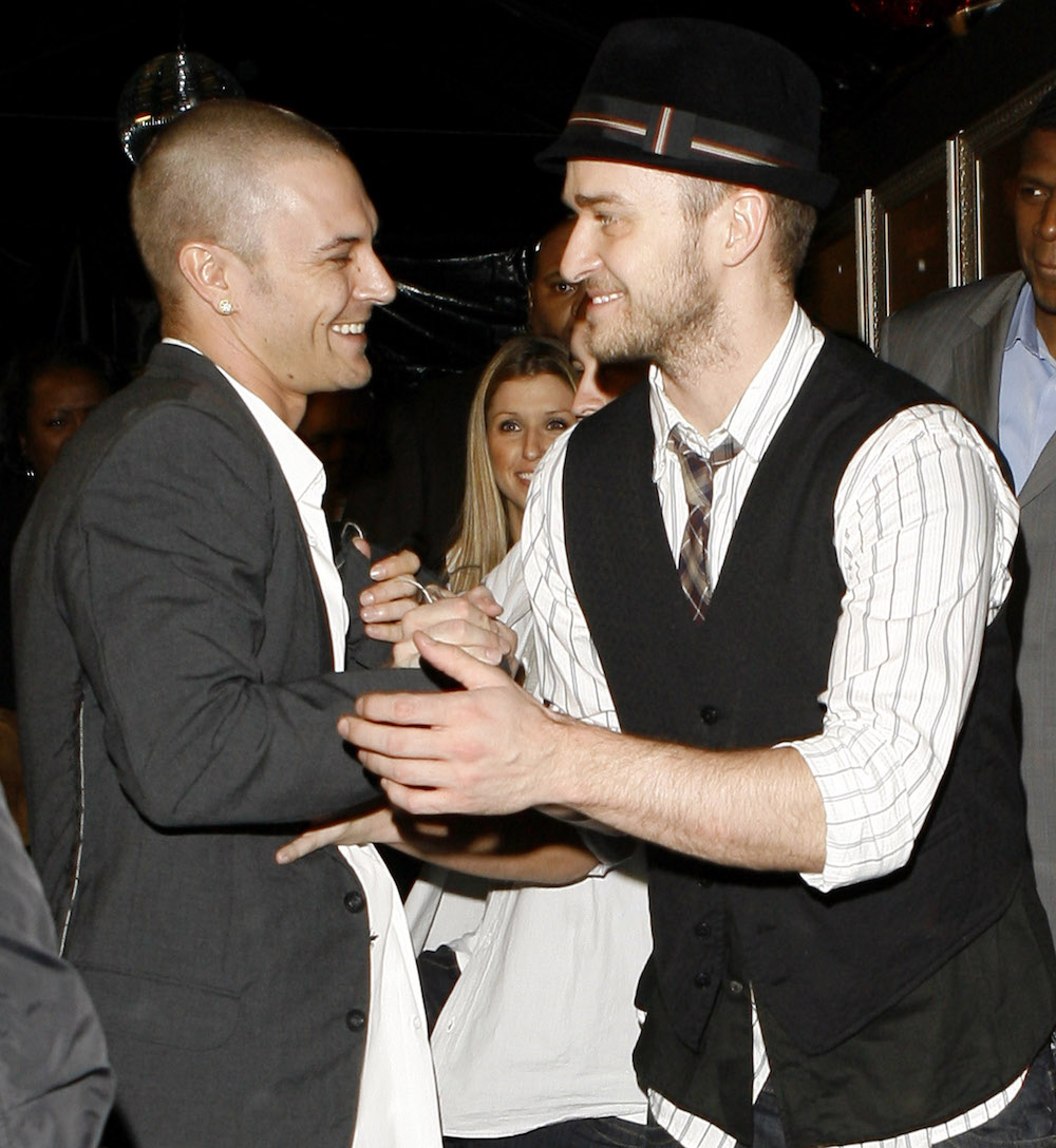 Kevin Federline and Justin Timberlake in 2007