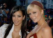 """Kim Kardashian and Paris Hilton at the premiere of """"Entourage"""" in 2006"""