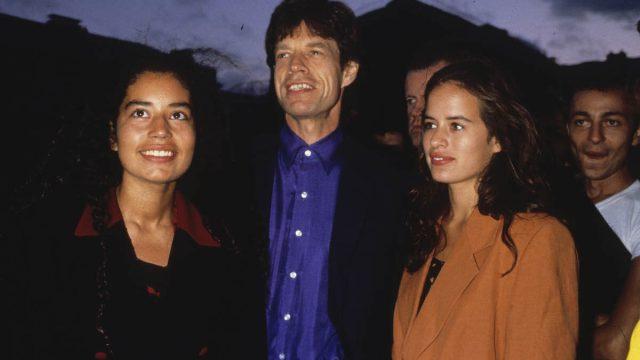 Karis, Mick, and Jade Jagger in Paris in 1995