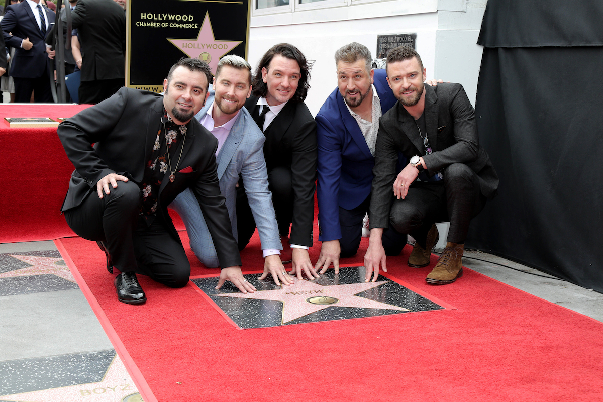 NSYNC at their Hollywood Walk of Fame ceremony in 2018