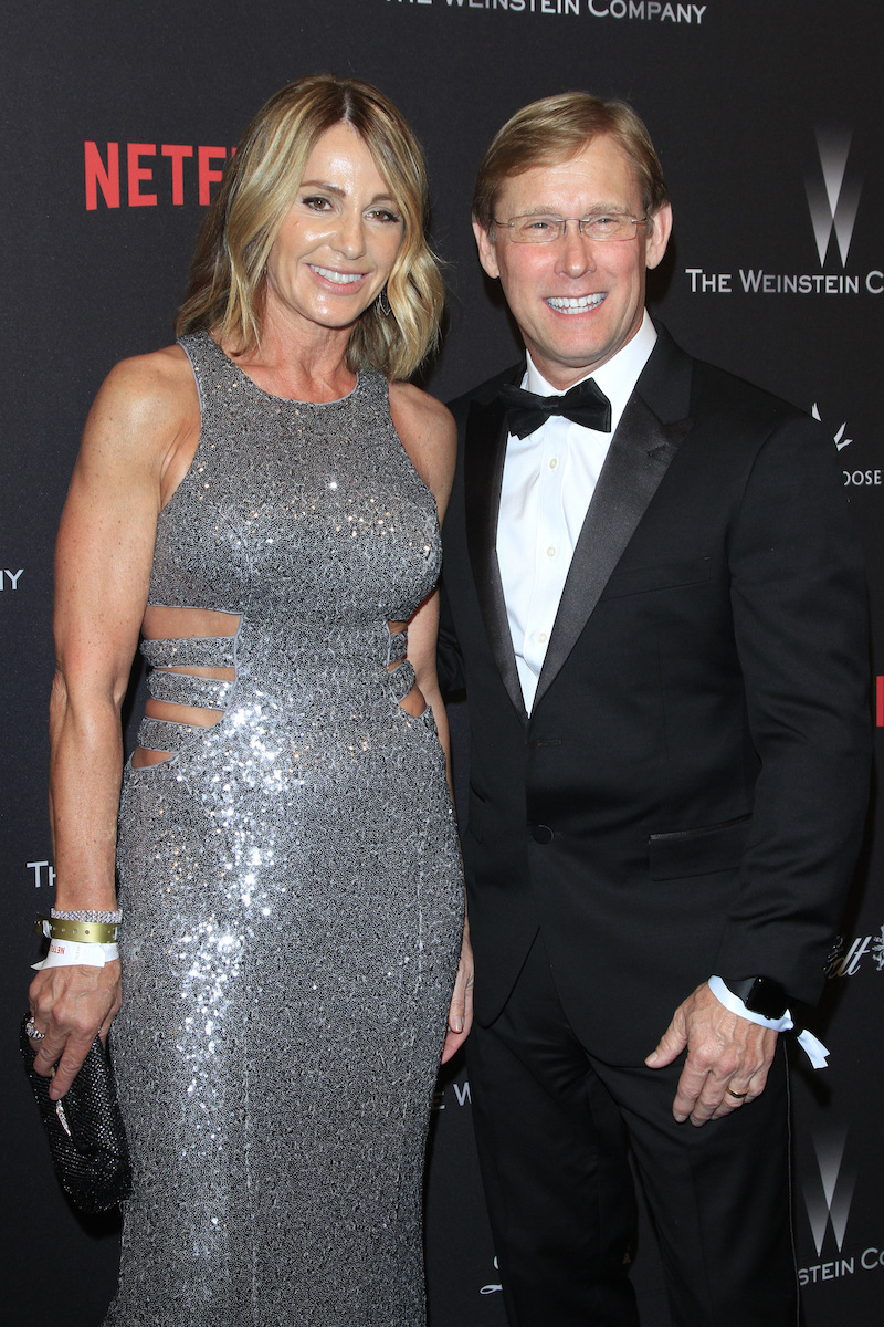 Nadia Comăneci and Bart Conner at the Weinstein And Netflix Golden Globes After Party in 2017