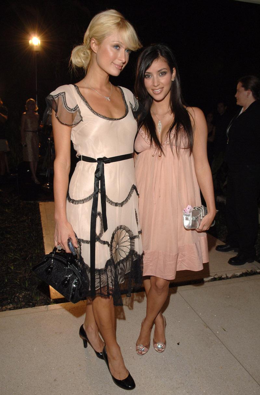 Paris Hilton and Kim Kardashian at a Dom Perignon event in 2006