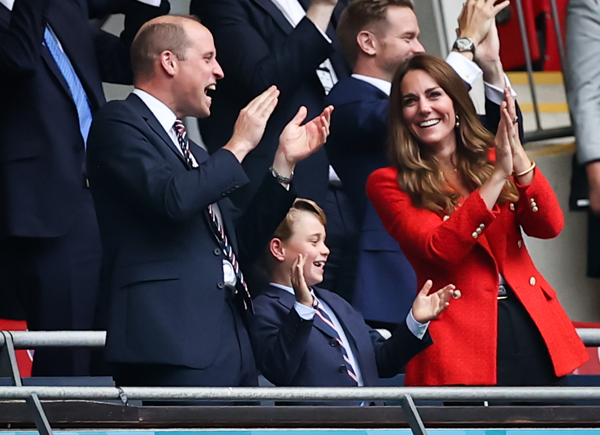 Prince William, Prince George, and Kate Middleton at Germany vs. England during Euro 2020 in June 2021