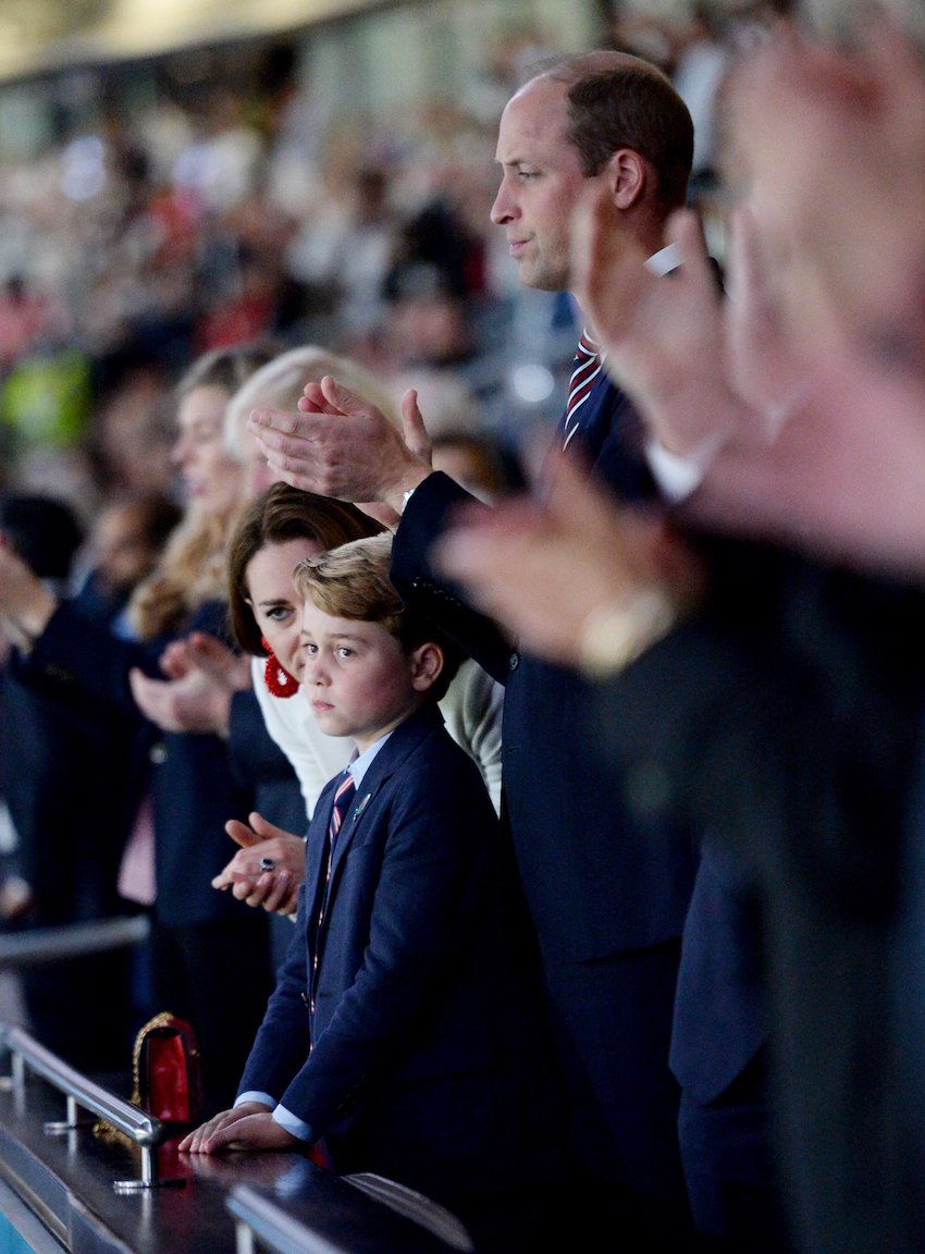 Prince George at the Euro 2020 final in July 2021