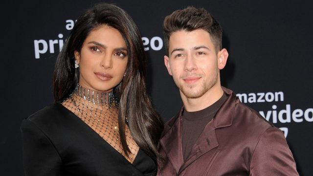 "Priyanka Chopra and Nick Jonas at the premiere of ""Chasing Happiness"" in 2019"