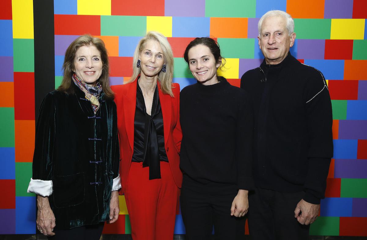 Sharon Harel-Cohen, Caroline Kennedy, Rose Schlossberg, and Edwin Arthur Schlossberg at the Museum of Modern Art in New York City in 2019