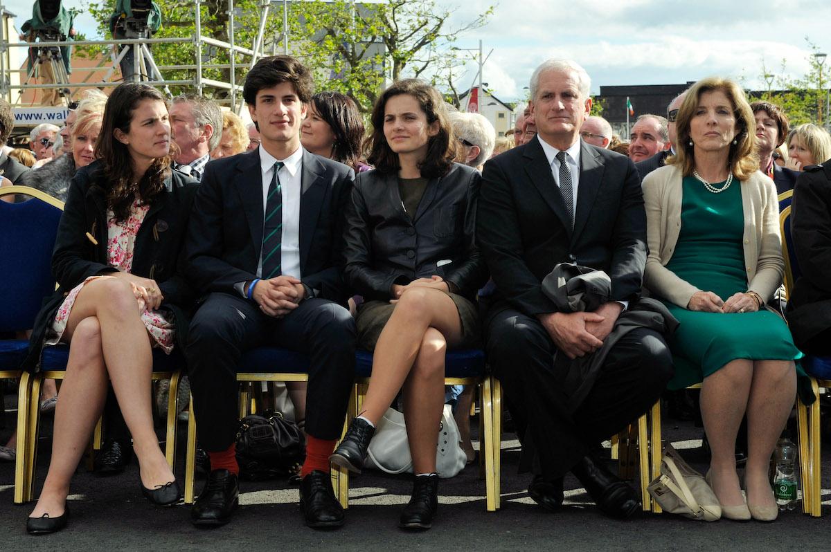 Tatiana Schlossberg, Jack Schlossberg, Rose Schlossberg, Edwin Schlossberg and Caroline Kennedy at an event in New Ross, Ireland in 2013